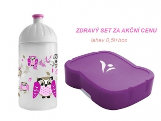 FREEWATER SET - lahev 0,5l +zdravý box SOVA
