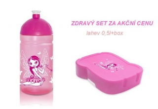 FREEWATER SET - lahev 0,5l +zdravý box VÍLA